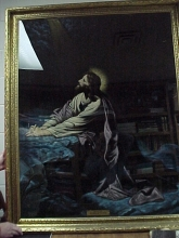 LARGE PICTURE OF JESUS IN PRAYER